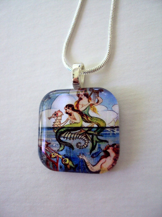 Harping Mermaids Nautical Fantasy Necklace