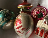 Glass Ornaments (Nativity, Santa, Church) - Set of 4 Photo Note Cards