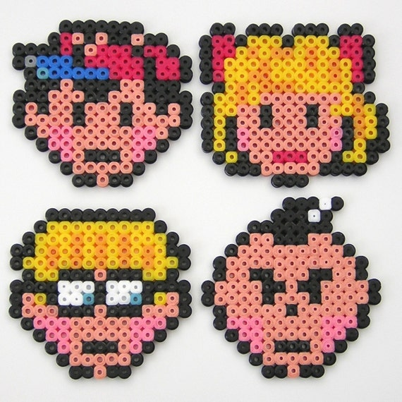 Awesome 4some - Set of EarthBound Magnets - Arcade Artist