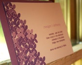 Lilac Wedding Invitation - Deposit to get started