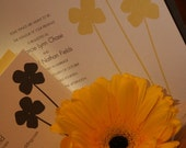 Yellow Flowers  Wedding Invitation - Deposit to get started