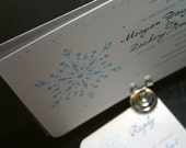 Snowflake Wedding Invitation - Deposit to get started
