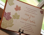 Maple Autumn Leaves Fall Wedding Invitation - Deposit to get started