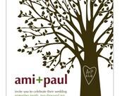 R Y L  E E ... You Print Invitation ... Tree with heart