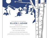 Mountain Aspen  - Printable Invitation