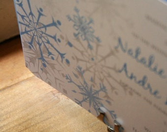 Snowflake Wedding Invitation  - Get Started Deposit