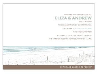 Wedding Invitation Beach Front  - Deposit to get started