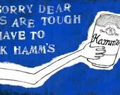 Drinking Hamms Magnet