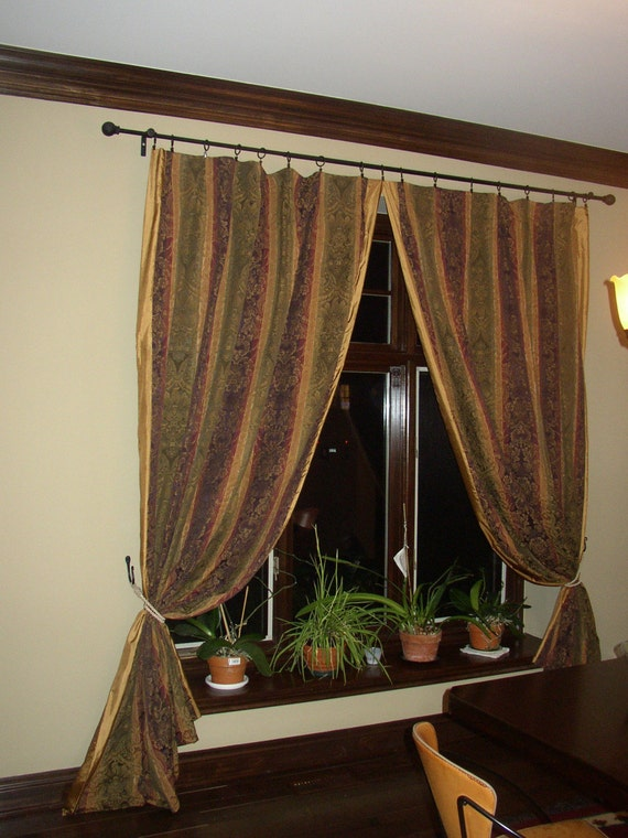 Damask Fully lined curtain Panels 4