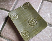 Soap Dish in Olive Green