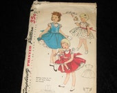 Vintage Girls Sewing Pattern