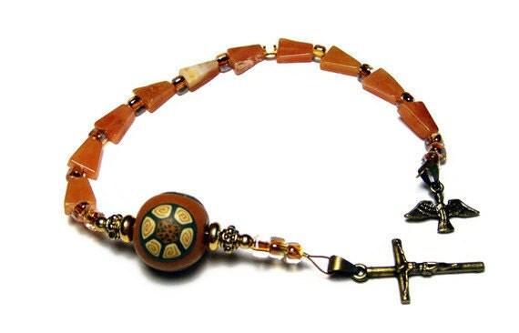 Catholic One Decade Unisex Rosary Chaplet Handmade Prayer Beads Everything Else Religious Aventurine