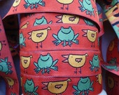 EXCLUSIVE - Frogs and Birds Woven Ribbon/Sewing tape/Jacquard Trim