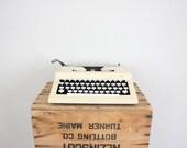 Vintage Typewriter // Mid Century White Typewriter // Manual Mad Men Office Decor