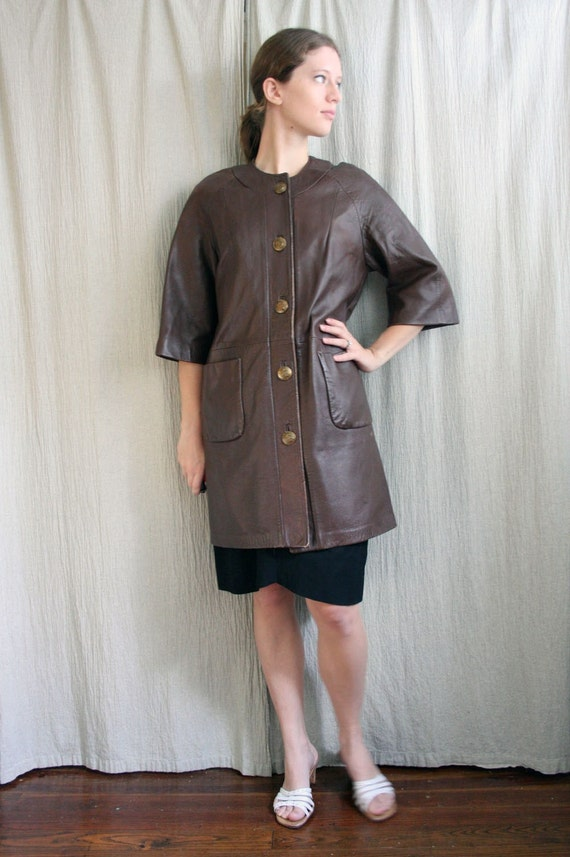Holiday Sale Vintage Chocolate Western Leather Duster