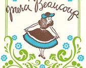 Merci Beaucoup Letterpress Cards - box set of ten