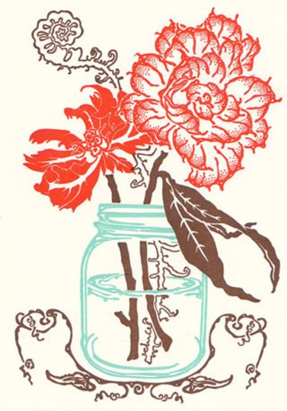 Farmhouse Flowers Letterpress Cards - box set of ten