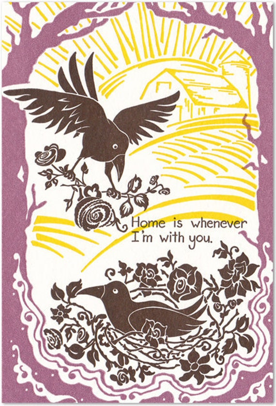 Home is Whenever I'm with You - Letterpress Card