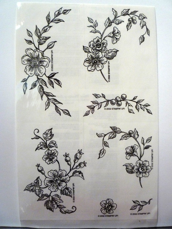 stampin up definitely decorative toile blossoms 2002 free. Black Bedroom Furniture Sets. Home Design Ideas