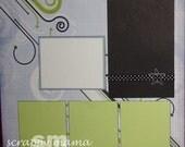 Masculine 12x12 2-page Scrapbook Layout