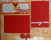 Clearance - Love Birds 2-page 12x12 Scrapbook Layout
