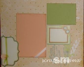 Clearance - Floral/Spring 12x12 2-page Scrapbook Layout