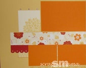 Floral Multi-Purpose 12x12 2-page Scrapbook Layout