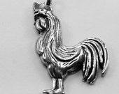Rooster pendant  1 bail Australian Pewter AF395