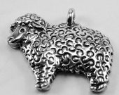Sheep lamb pendant or charm 1 bail Australian Pewter