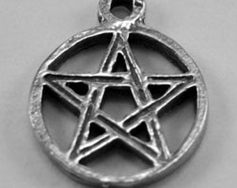 2 x Tiny Pentagram Australian Pewter Charm