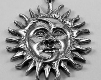 2 x Sun and Moon pewter pendant made in Australia