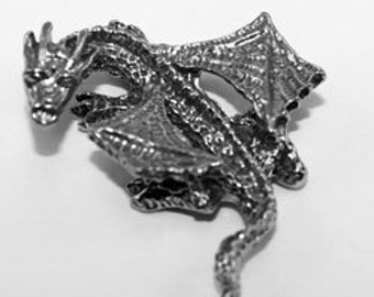 standing Dragon with wings out (freestanding) Australian Pewter DR20