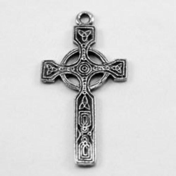 2 x Tiny pewter celtic cross made in Australia R119