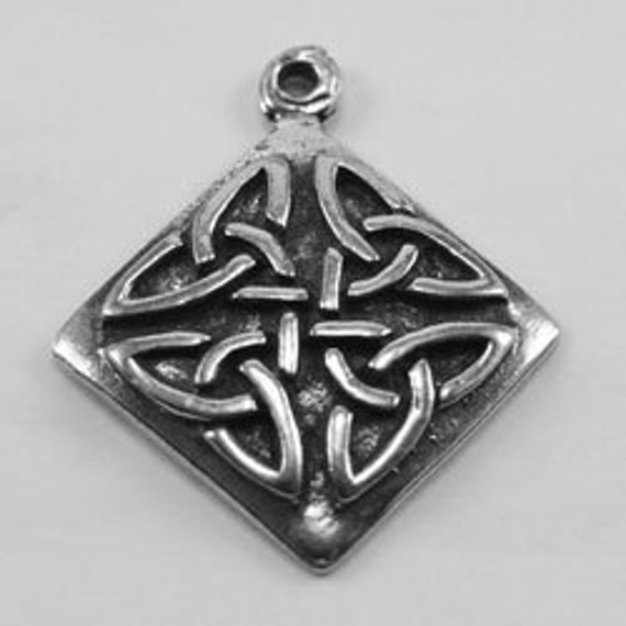 2 x Celtic Square pendant or charm  1 Bail Australian Pewter