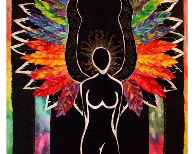 Deep peace Angel fabric panel small