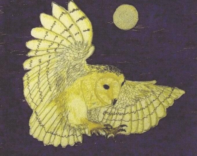 Tasmanian Barn Owl Fabric Panel Australian Animals