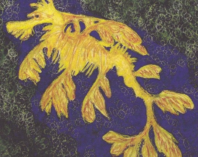leafy Sea Dragon Fabric Panel Sea horse Australia