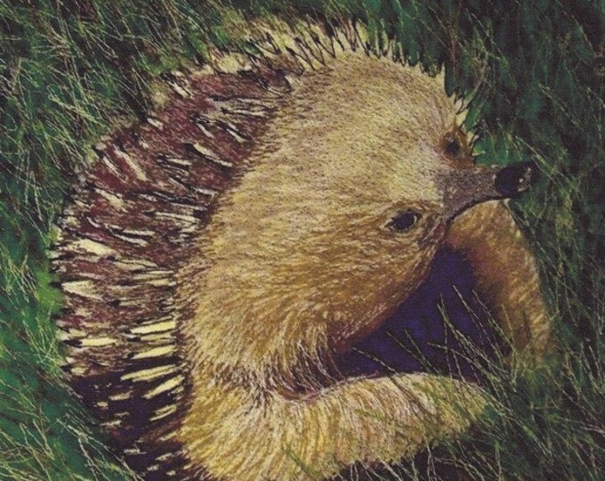 Echidna Fabric Panel for quilting or sewing