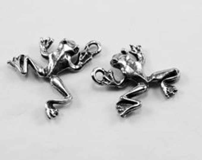 2 x Pair (4) Frogs earrings or charms  Australian Pewter