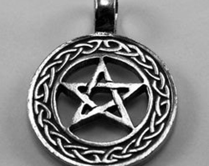 Pentagram celtic Knots Pendant - 1 bail Australian pewter