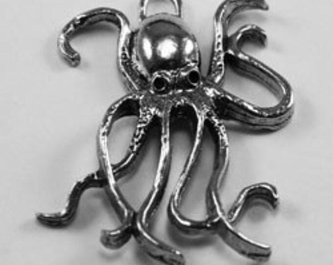 Octopus pendant Australian Pewter