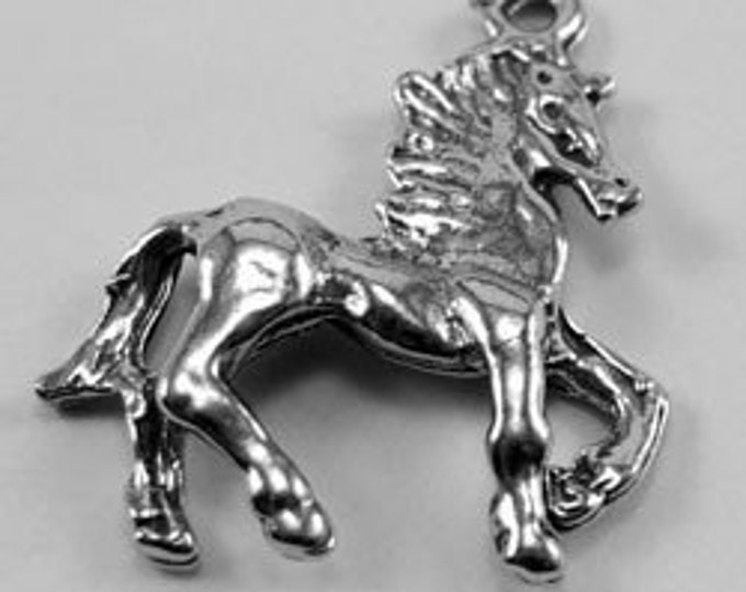 Horse pendant 1 bail Australian Pewter AF419