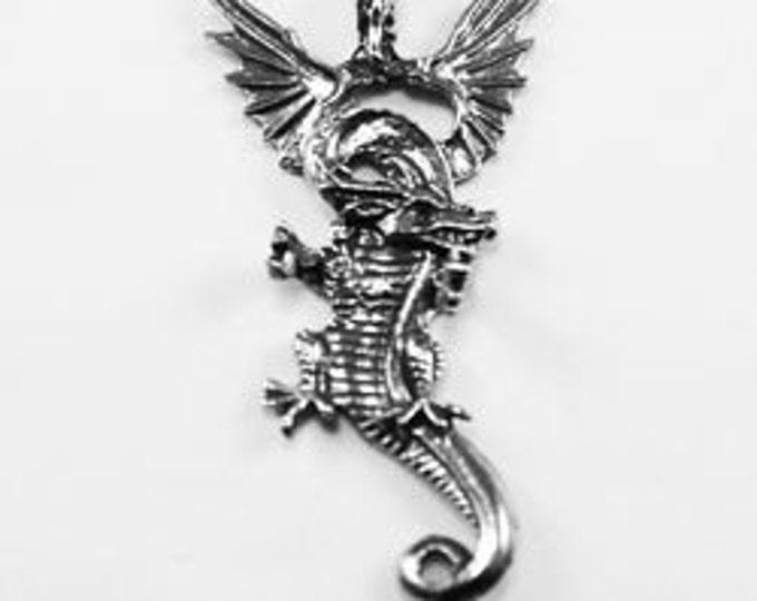 Dragon pendant  1 bail Australian Pewter DR17