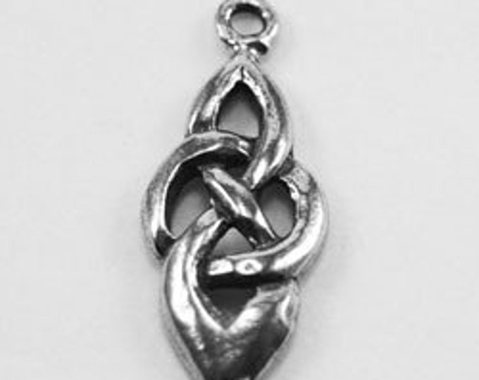 10 x Celtic Oval Knot Open pendant or charm  1 bail Australian Pewter