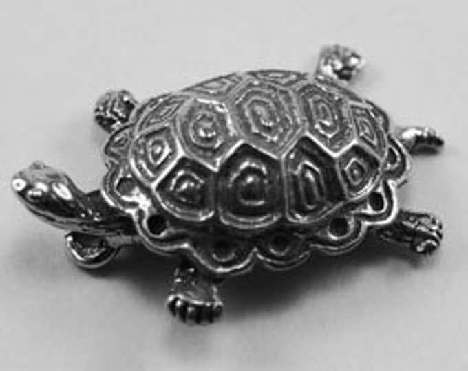 2 x Small Raised Turtle - 1 bail Australian Pewter AF251