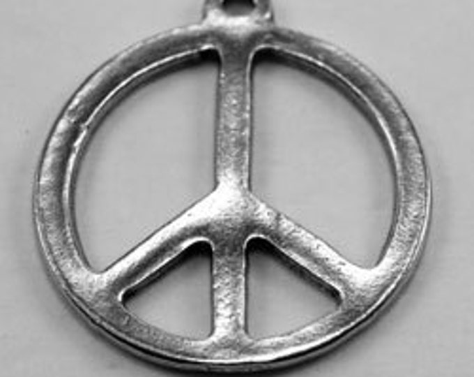 Peace Sign pendant  1 bail Australian Pewter