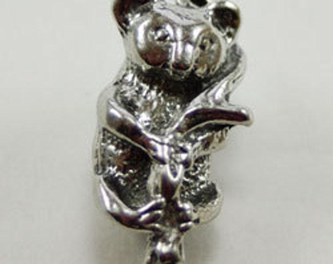Small Koala pendant or charm 1 bail Australian Pewter AF068