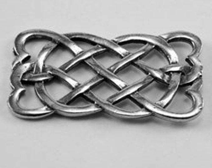 Celtic knot bar or joiner Australian Pewter R287