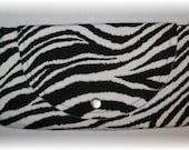 Handmade Zebra Print Fabric Clutch / Purse