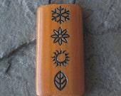 Four Seasons - Laser Engraved Bamboo Pendant